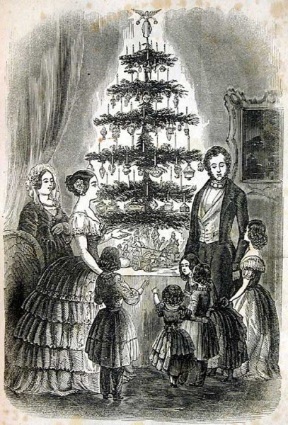1850_GodeyLadyBook_ChristmasTree