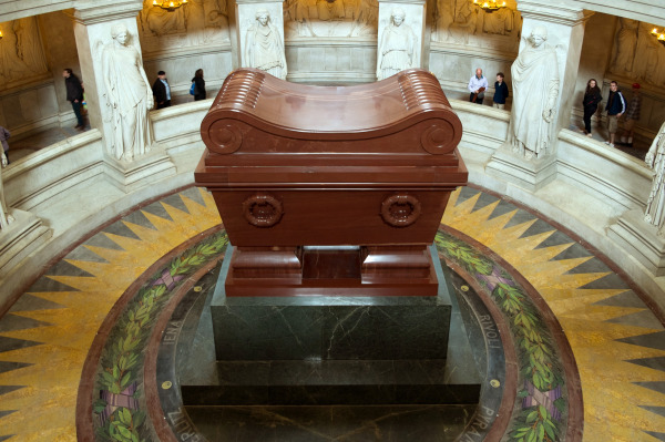 The tomb of Napoleon Bonaparte.