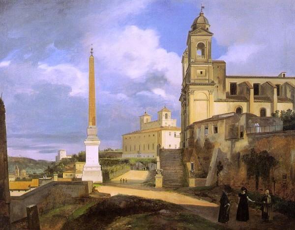François_Marius_Granet_-_La_Trinité-des-Monts_et_la_Villa_Médicis,_à_Rome