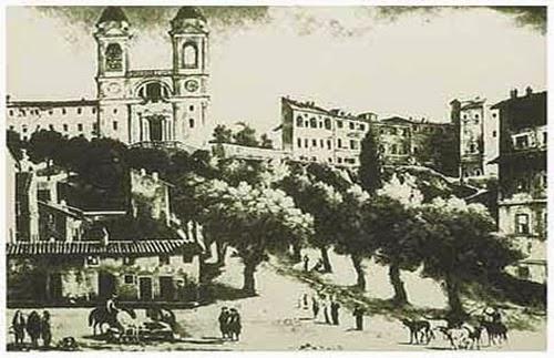 Trinità dei Monti prima della scalinata (picc.verde G.Maggi 1600 ca)_thumb[3]