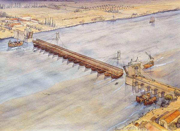 gaule-arelate-arles-pont-bateaux