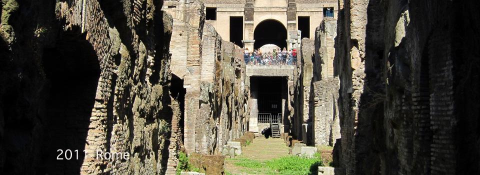 2011 – Rome; Palazzo Farnese, Cinecittà, Vatican Nights and the Hypogeum